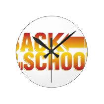 back to school round clock