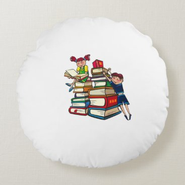 Beach Themed Back to school round pillow