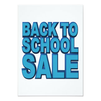 Back to School Sale Card