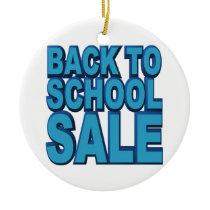 Back to School Sale Ceramic Ornament