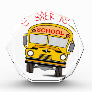 Back to school - school bus acrylic award