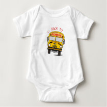 Back to school - school bus baby bodysuit