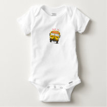 Back to school - school bus baby onesie