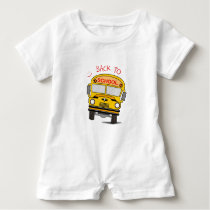 Back to school - school bus baby romper