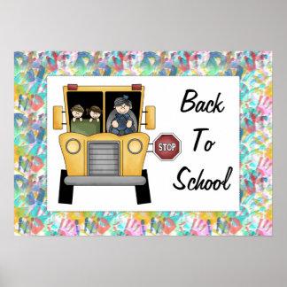 Back to School School Bus Custom Print Poster