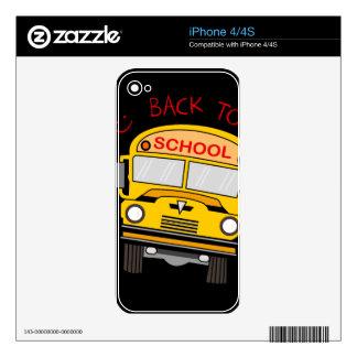 Back to school - school bus decals for iPhone 4S