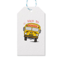 Back to school - school bus gift tags