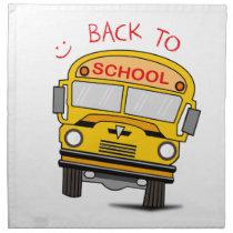 Back to school - school bus napkin