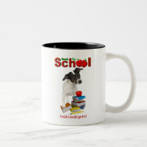 Back To School - Smooth Fox Terrier Two-Tone Coffee Mug