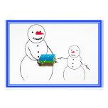 Back to School Snowmen Custom Invite