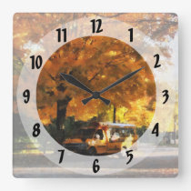 Back to School Square Wall Clock