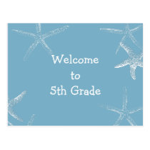 Back to School Starfish Welcome Postcard