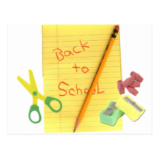 Back-to-School Stationary Postcard