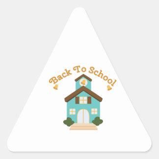 Back to School Triangle Sticker