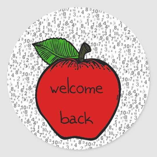 Back to school - sticker