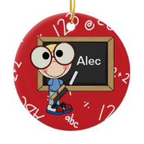 Back To School Supplies Ceramic Ornament