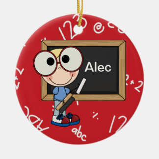 Back To School Supplies Ceramic Ornament