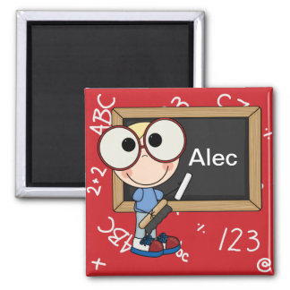 Back To School Supplies 2 Inch Square Magnet