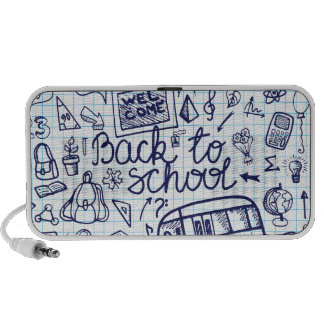 Back to School Supplies. Sketchy Notebook decor Mini Speaker