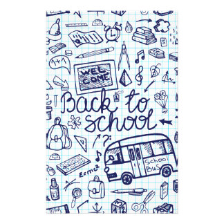 Back to School Supplies. Sketchy Notebook decor Stationery Design