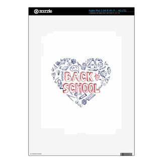 Back to School Supplies Sketchy  Notebook Decal For iPad 3