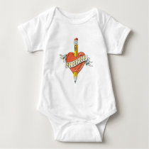 Back-to-School Tattoo Baby Bodysuit