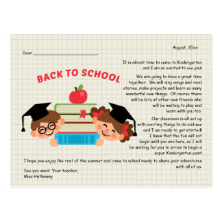 Back To School Teacher's Greeting Postcard