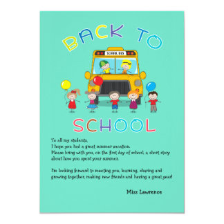 Back to School Teacher's Ice Breaker Notecard