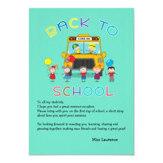 Back to School Teacher's Ice Breaker Notecard