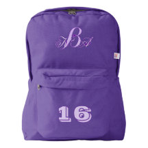 back to school terndy cute girly monograms backpack