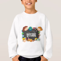 Back to school theme with boy and girls sweatshirt