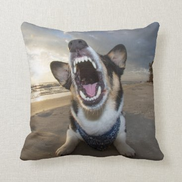 Beach Themed Back to School Throw Pillow