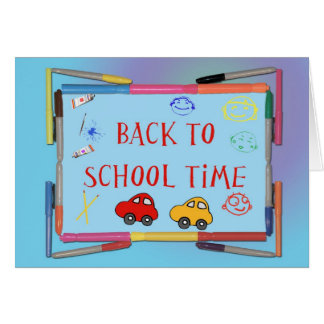 Back To School Time Card