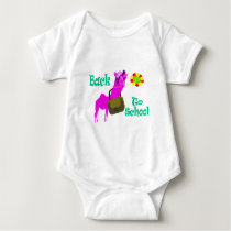Back to school tishirt baby bodysuit