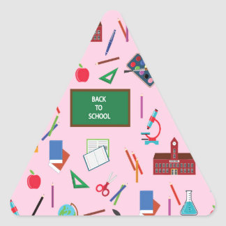 Back to School Triangle Sticker