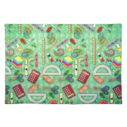 Back to School Unicorn Cloth Placemat