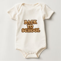 Back to School vector wood letters Baby Bodysuit