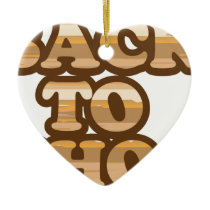 Back to School vector wood letters Ceramic Ornament
