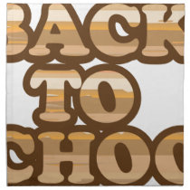 Back to School vector wood letters Cloth Napkin