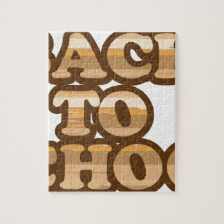 Back to School vector wood letters Jigsaw Puzzle