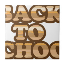 Back to School vector wood letters Tile