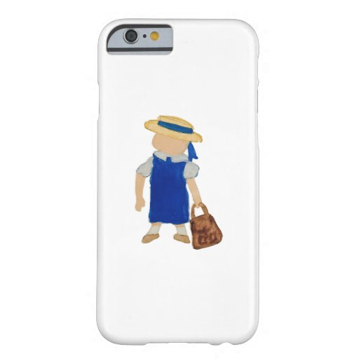 Back to School Water Colored Girl with Bookbag Barely There iPhone 6 Case