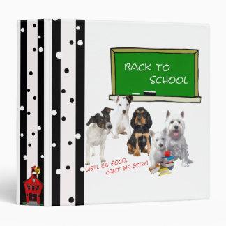 "Back to School Westie, Jack Russell & more! 1.5"" 3 Ring Binder"