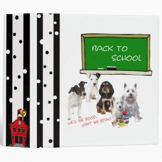 "Back to School Westie, Jack Russell & more! 2"" Binder"