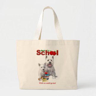 Back To School Westie – Mom & Baby Girl Large Tote Bag