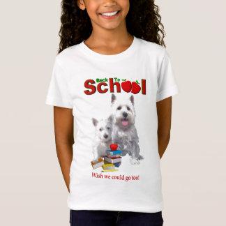 Back To School Westie – Mom & Baby Girl T-Shirt