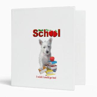 Back To School Westie Pup Binder