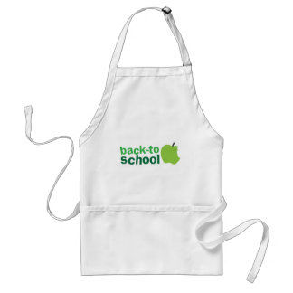 back to school with green apple aprons