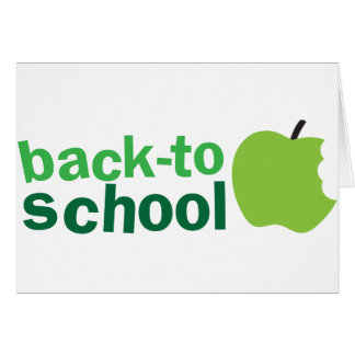 back to school with green apple card