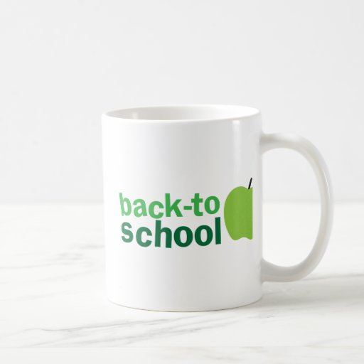 back to school with green apple mugs